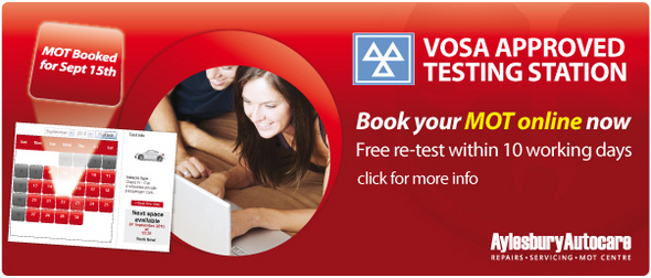 Click to Book your MOT online today!